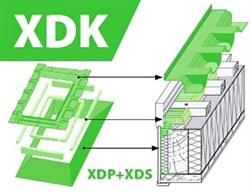 XDK (XDP+XDS) - комплект тепло- гидро- пароизоляции: внешний утепленный гидроизоляционный оклад XDP и внутренний пароизоляционный оклад XDS