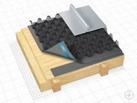 Структурированный разделительный слой для металлических крыш Delta-Trela / Delta-Trela Plus