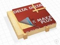 Диффузионная мембрана Delta-Maxx Plus с клеящим слоем