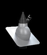 Антенный выход WirPlast STANDARD PA-21 D 19 - 90 мм с проходным элементом для битумной кровли (при монтаже)