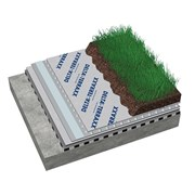 DELTA-TERRAXX Дренажная мембрана для зелёных крыш, эксплуатируемых крыш и мощения.