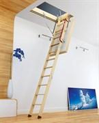 Термоизоляционная чердачная лестница FAKRO Thermo LTK. Толщина люка с утеплителем 66 мм