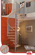MINKA Spiral Wood Винтовая лестница ступени из бука Серебристый
