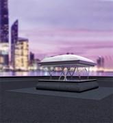 Дымоудаляющее окно для плоских крыш FAKRO DSC с куполом