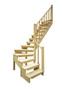 Деревянная межэтажная лестница ЛЕС-09