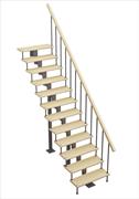 Модульная лестница Стандарт, серия «Классик» (прямой марш) высота шага 180 мм