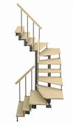 Модульная лестница Спринт, серия «Классик» (c поворотом на 180 градусов) высота шага 180