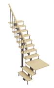 Модульная лестница Статус, серия «Классик» (с поворотом 90 градусов с площадкой) высота шага 180 мм