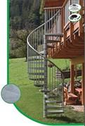 Уличная металлическая лестница MINKA Rondo Zink plus